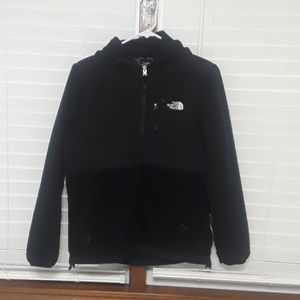 The north face black fleece zip hoodie sz M